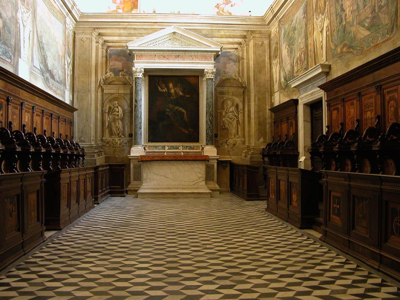 Napoli, stalli e armadi lignei nella chiesa della Certosa di S ...