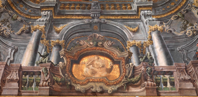 Napoli, Palazzo Reale volta della Sala Diplomatica, dipinti di ...