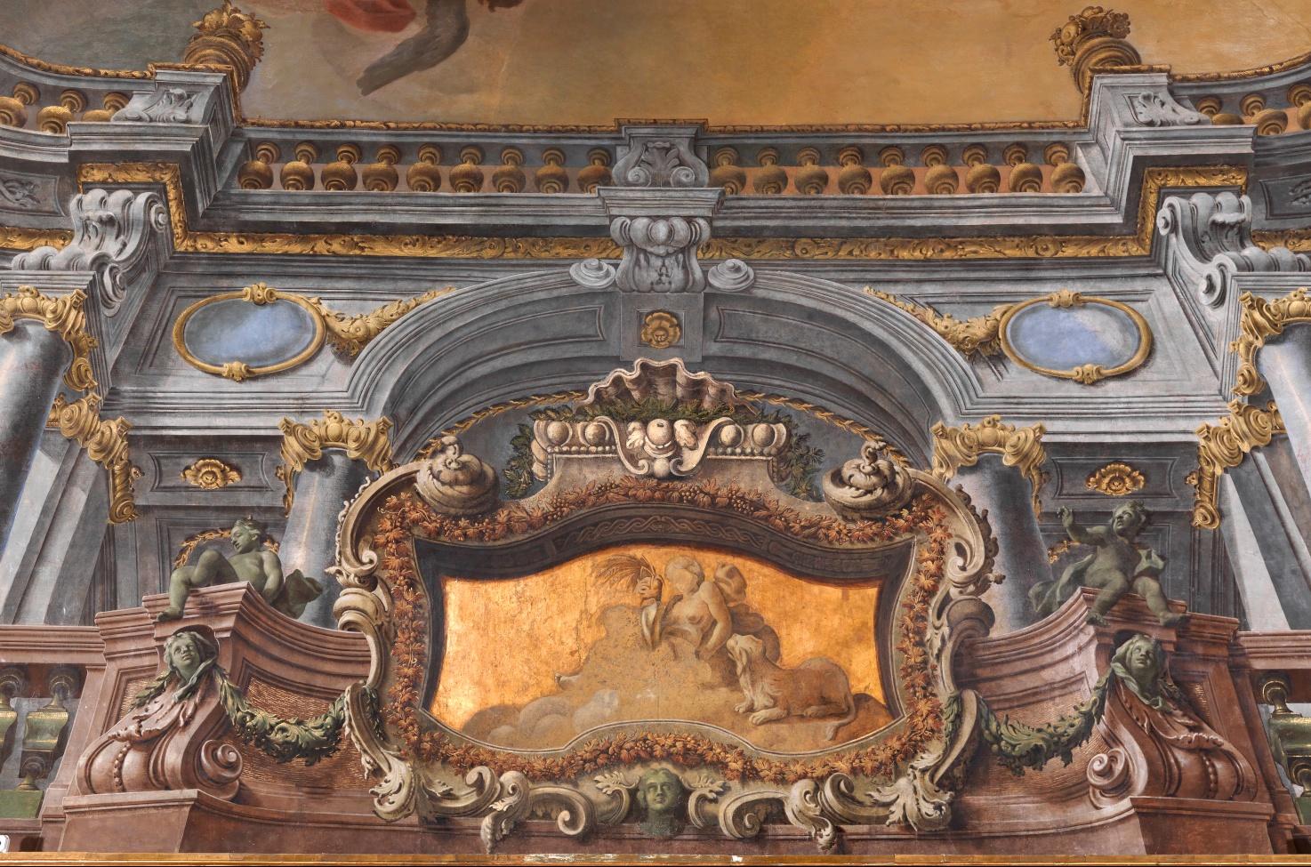 ... Reale volta della Sala Diplomatica, dipinti di Francesco De Mura
