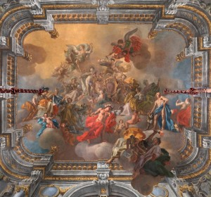 Next<span>Naples, Royal Palace, vault of the Diplomatic Room, painting by Francesco De Mura</span><i>→</i>
